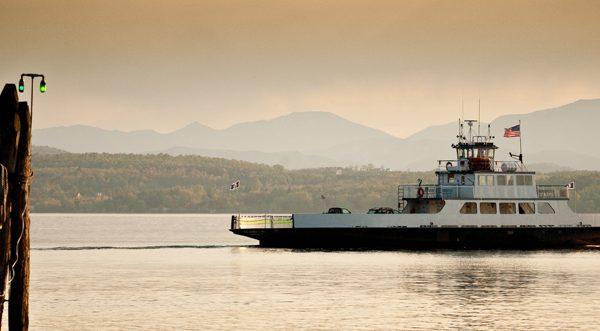 Ship on Lake Champlain